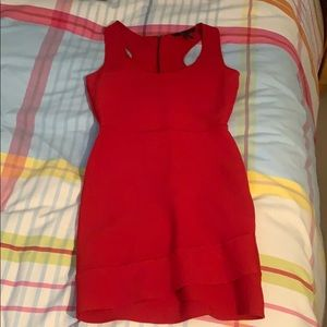 BCBG tight and short red dress